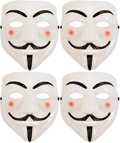 MR Mascara V DE Vendetta - Careta VENDETA - INDIGNADOS 15 M (Blanca) 4 Unidades