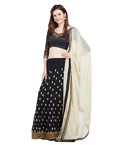 Viva N Diva Lahenga For Women's Party Wear Black Color Georgette Lahenga...