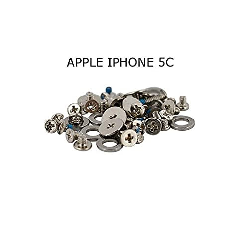 KIT SET VIS SCREW COMPLET APPLE IPHONE 5/5S/5C/5C PIECES DETACHEES VISSE VISSERIE - KITPHONES® - Apple iPhone