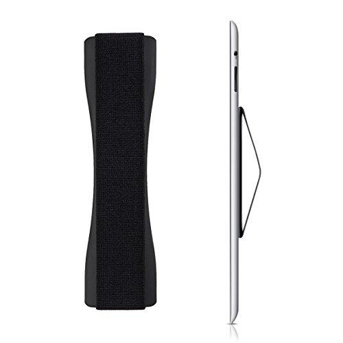 kwmobile Tablet Fingerhalter Griff Halter - Tablethalter Halterung für Einhandbedienung - Für iPad Huawei Sony Samsung UVM. - Schwarz