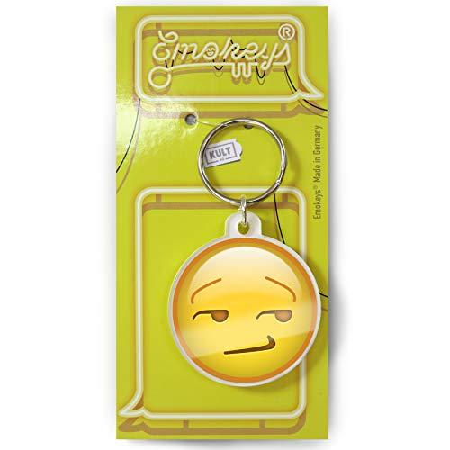 EMOKEY® Grinsen vermitzt - süffisant grinsender Anhänger, Mini Grinse Emoji ★Made in Germany★