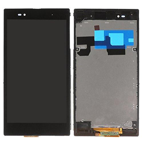 LCD Screen/Touch Screen Pad Replacement Ersatz/Ersetzen LCD-Bildschirm + Touchscreen-Panel mit Rahmen for Sony Xperia Z Ultra / XL39h (Schwarz) Digitizer Full Assembly for Sony (Farbe : Black) (Z Touch-screen-sony Xperia Ultra)