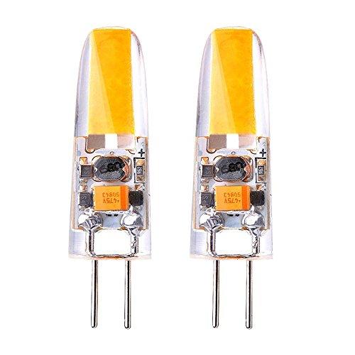 Sunix® 3W G4 COB LED lampadina, 25W alogene lampadine equivalenti, 200LM, Dimmerabile, bianco caldo, 3000K, Angolo a fascio 360 gradi, lampadina del riflettore cristallo, pacchetto di 2 unità