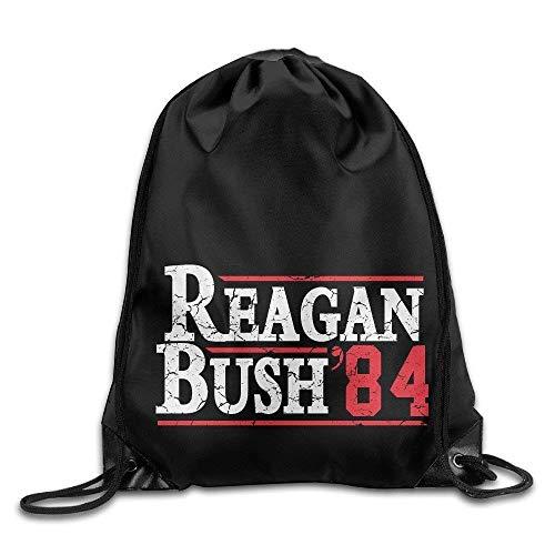 Dutars Reagan Bush '84 Conservateur Républicain GOP Cool Cordon de Serrage Sac à Dos Corde Sac
