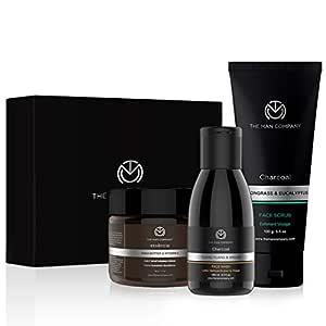 THE MAN COMPANY Cleanse & Moisturise Pack(Charcoal Face wash + Charcoal Scrub + Moisturising Cream)