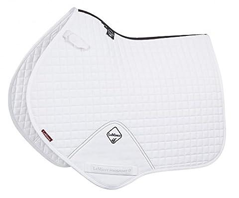 Lemieux Unisex Pro Sport Close Contact Square D-Ring Saddle Cloth, White, Large
