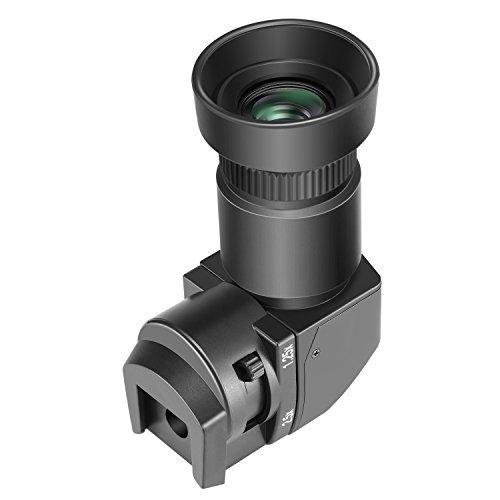 Neewer 1,25x-2,5x Visor de ángulo recto con 8 adaptadores de montaje para Canon, Nikon, Pentax, Panasonic, Minolta, Leica y otras cámaras digitales DSLR