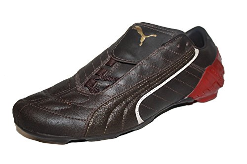 Puma v-Kat II LS, Scarpe da calcio bambini (Braun (black coffee/whisper/white/puma red))