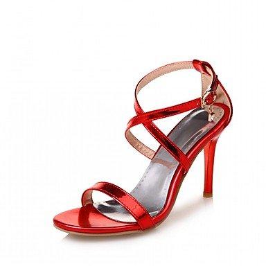 zhENfu Donna Sandali Estate Autunno Club scarpe scarpe formali Comfort Novità PU similpelle Outdoor Office & carriera parte & abito da sera Casual Red