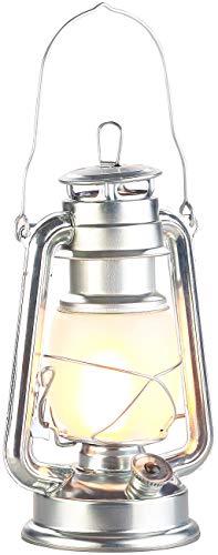 Pearl Outdoor-beleuchtung (Lunartec Schiffslaterne: LED-Sturmlaterne mit Flammen-Effekt, 25 cm Höhe, silberfarben (Petroleum-Sturmlaterne))