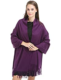 "Saferin Extra Large 78""x28"" Women Soft Luxurious Solid Cashmere Lambswool Pashmina Wrap Shawl Stole Scarf With..."