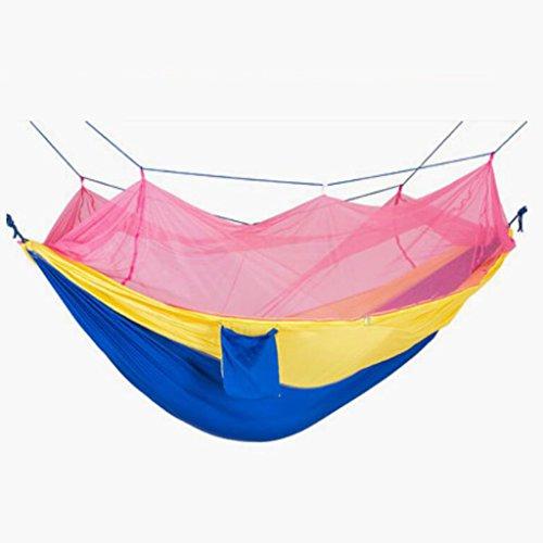 Hamaca al aire libre hamaca paracaídas rosado hamaca hamaca doble de swing hamaca que acampa del recorrido del ocio hamaca del mosquito hamaca hamaca neta antiplagas