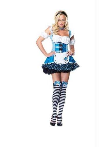 Leg Avenue - Kostüm Magic Mushroom Alice 3-teilig - XS - Blau - 83521