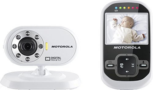 Motorola MBP26 Digital Video Baby Monitor with 2.4 inch Display – White/Black 41EjS8haS8L