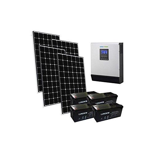 Kit casa solare pro 3kw 48v impianto fotovoltaico stand-alone isola