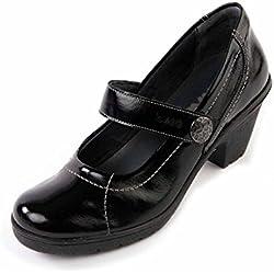 Suave Kate schwarz Komfort, Casual, Mary Janes, PUMPS, schwarz - schwarz - Größe: 40 2/3 EU