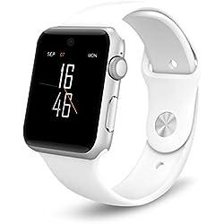 Ayuda de la pantalla ARBUYSHOP Lemfo LF07 inteligente Reloj Bluetooth 2.5D ARCO HD SIM Card dispositivos portátiles SmartWatch rastreador de ejercicios para iOS Android, White