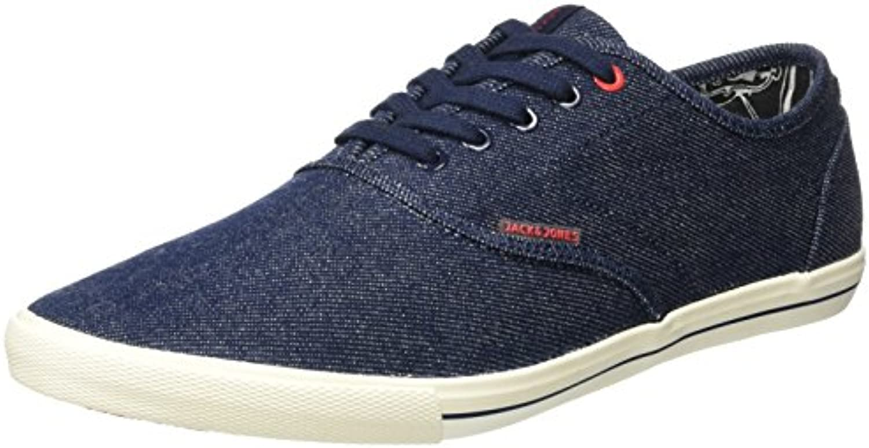 JACK  JONES Herren Jjspider Canvas Sneaker Light Blue Denim