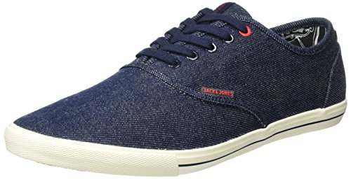 JACK & JONES Herren JJSPIDER Canvas Light Blue Denim Sneaker, Blau, 44 EU