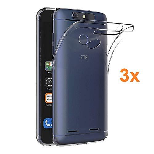 Pack 3X Transparente Silikonhülle TPU für ZTE Blade V8 Mini, Handyhülle Premium Kratzfest TPU Durchsichtige Schutzhülle, Ultradünne 0,33 mm, Elektronik König®