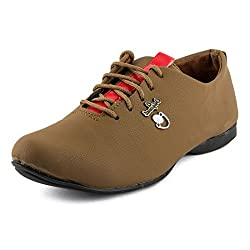 Golden Sparrow MenS Brown Fabric Synthetic Casual Shoe (Tm-D88-09)- 9 Uk