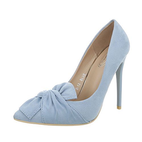 Ital-Design Damenschuhe Pumps High Heel Pumps Synthetik Hellblau Gr. 39