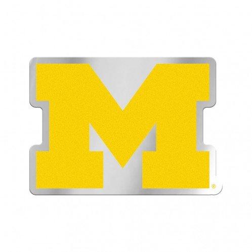 Win-Craft, Inc Michigan Wolverines Team Logo Chrom Kunststoff Farbe Aufkleber Emblem (Wolverine-aufkleber)