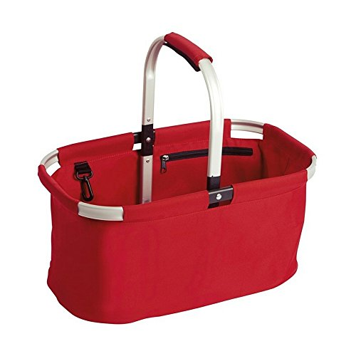 ID Folding Shopping Basket/Bag (One size) (Red)