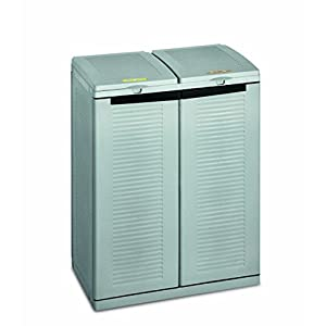 Terry, EcoCab 2, Schrank zum Mülltrennen, für den Innen- und Außenbereich, 2 separate Fächer. Material: Kunststoff…