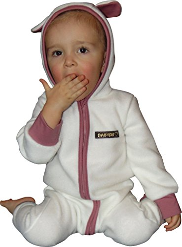 Mamadu Mein Lämmchen Nähpaket Baby-/ Kinder- Kostüm ALS Fleeceoverall Gr. 56 - 98, Nicht nur für Fasching, Fasnet und Karneval(Schaf, Lamm)