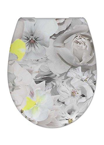 Cedo Design WC Sitz Gardeners mit Absenkautomatik Softclose Classic, Abnehmbar mit Takeoff Original Abnahmefunktion; aus Duroplast für ovale Keramiken mit Befestigung von Unten