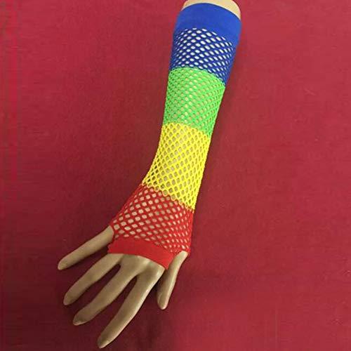 Caokang Punk Handschuhe Kostüm 1 Paar Spitzenhandschuhe Netznetz Handschuhe,Stil 1