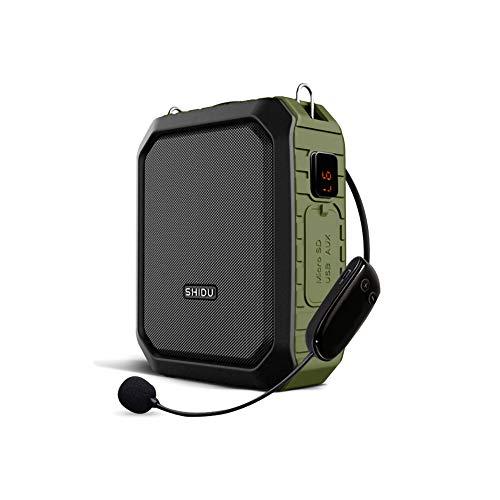 LJ2 18W Sprachverstärker, tragbarer drahtloser Bluetooth-Lautsprecher Wasserdichter Sprachverstärker mit UHF-Mikrofon für die Lehrerunterstützung,B