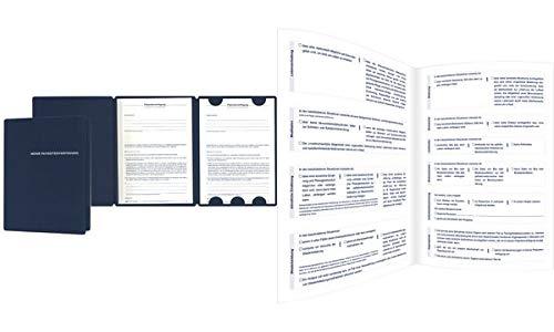 RNK 2896 2 Patientenverfügungen in hochwertiger Mappe mit Betreuungsverfügung und Vorsorgevollmacht