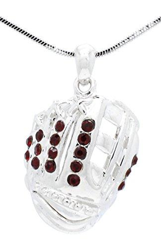 Violett Victoria & Fan Star Jewelry Softball Handschuh Halskette–Baseball Handschuh Halskette–Handschuh Anhänger–Mehr Farben erhältlich, kastanienbraun