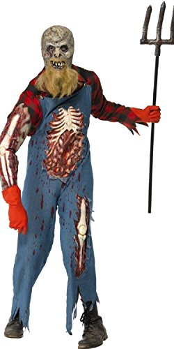 Erwachsene Hillbilly Für Kostüm - Smiffys Kostüm Halloween Fasching Erwachsene Zombie Alien Hillbilly 17025, Mehrfarbig Einheitsgröße