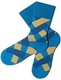 Bunte Socken - Karomuster - Surf'S Up - GOTS zertifiziert - aus feinster Bio Baumwolle - Komfortbündchen