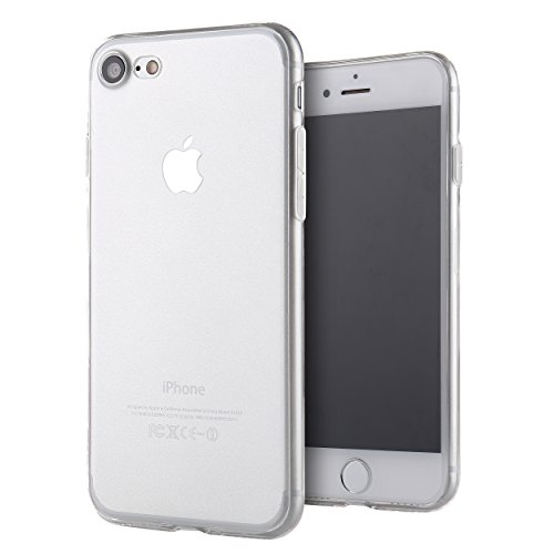 Liamoo Hülle kompatibel mit iPhone 7 | 8 Silikon Schutzhülle - Klar - Soft Touch - flexibel - dünn weich TPU Schutz Case