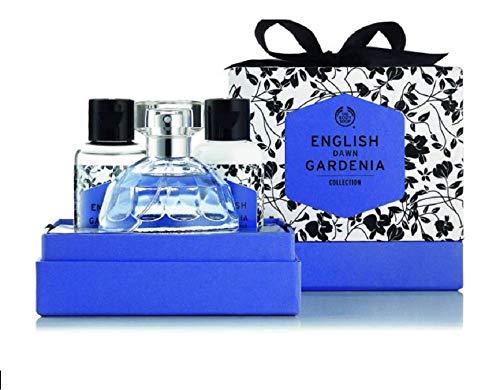 Gardenia-lotion (The Body Shop Beauty Set For Women - English Dawn Gardenia 50 ml Eau de Toilette Bodylotion 60 ml/Duschgel 60 ml)
