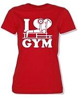 I Love GYM - Damen Frauen T-Shirt Gr. XS bis XXL Versch. Farben