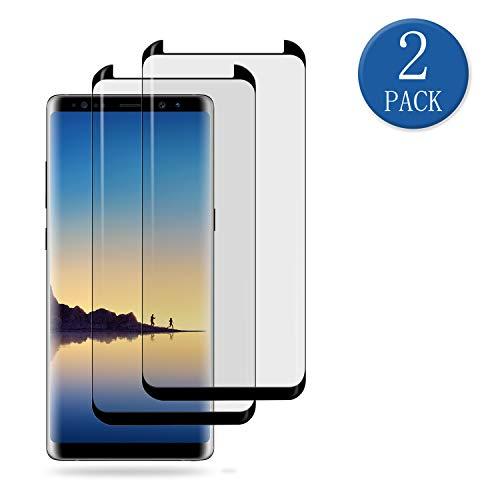 aiMaKE Galaxy Note 8 Panzerglas,2 Stück Panzerglas Schutzfolie für Samsung Galaxy Note 8 9H Härte,Perfekt Schutz vor Staub,Fingerabdruck,Vollständige Abdeckung,Displayschutzfolie für Samsung Note 8 -