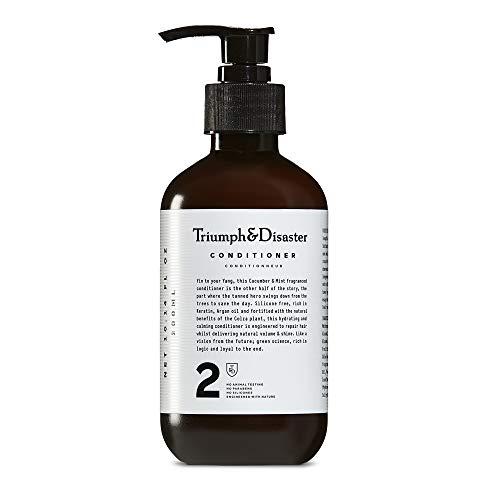 Triumph & Disaster Haarspülung 300ml - Silikonfreie Gurke & Minze Duftende 100% natürliche entwirrende nährende Keratin & Arganöl
