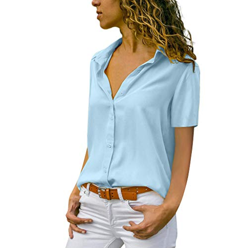 MRULIC Damen Shirt Tie-Bow Neck Striped Langarm Spleiß Bluse Gestreift Damen Tragen Tops Pullover(C-blau,EU-48/CN-4XL)