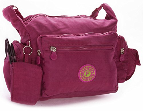 Big Handbag Shop, Borsa a tracolla donna One Magenta Pink