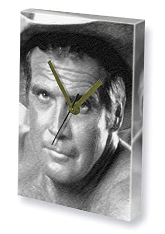 LEE MAJORS - Canvas Clock (A5 - Signed by the Artist) #js001