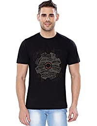 The Souled Store Mechanical Engineer Nerdy Printed Premium BLACK Cotton T-shirt for Men Women and Girls