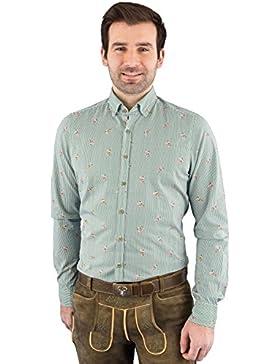 Hatico Mode Pure Trachtenhemd Herren Langarm C52606-21392 473