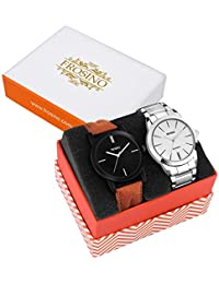 Frosino Pack of 2 Muticolor Black and White Dial Analog Watch combo-COMBO-FRAC-06