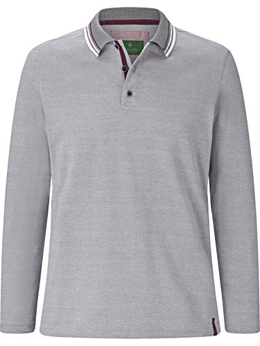 Charles Colby Herren Langarm-Poloshirt Padric (Rugby-Polo, Freizeit-Polo) grau 3XL (XXXL) - 64/66 - 66 Rugby