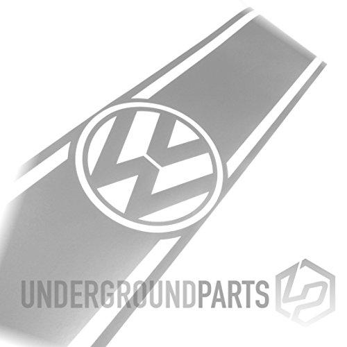 Motorhaube/Kofferraum-Aufkleber mit Streifen fur Lieferwagen–Silber (Streifen Motorhaube)
